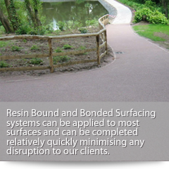 Over 12 years experience in creating attractive hard wearing surfaces for a variety of resin bonded projects