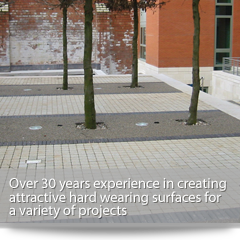 Over 12 years experience in creating attractive hard wearing surfaces for a variety of projects including tree pits